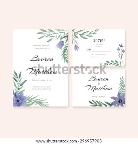 Unique Gentle Vector Wedding Cards Template Vector 296957873 – Rsvp Wedding Cards Template