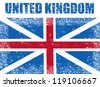 United Kingdom grunge flag,vector illustration - stock vector