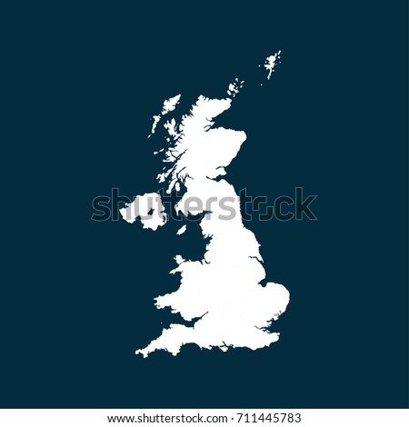 United kingdom map white blank world vectores en stock 711445747 united kingdom map white blank world map gumiabroncs Gallery