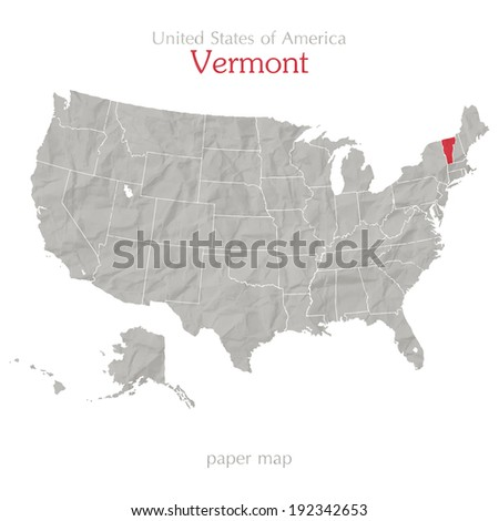 United States America Map New Hampshire Stock Vector 192342644