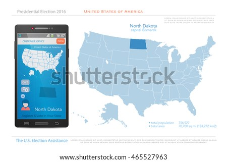 United States America Maps Kansas State Stock Vector - Us political map 2016