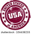 United States of America USA Vintage Stamp - stock photo