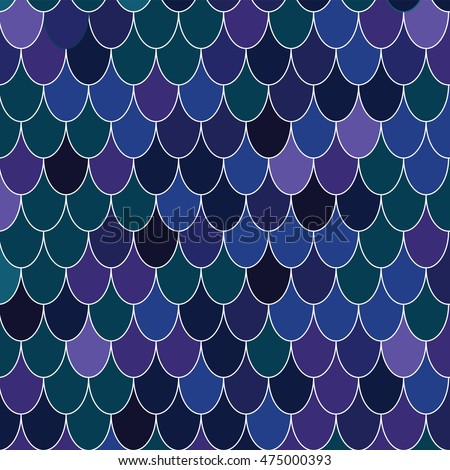 Fish Scale Texture Vector Pattern Magic Stock Vector