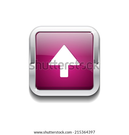 Up Key Rounded Rectangular Vector Pink Web Icon Button