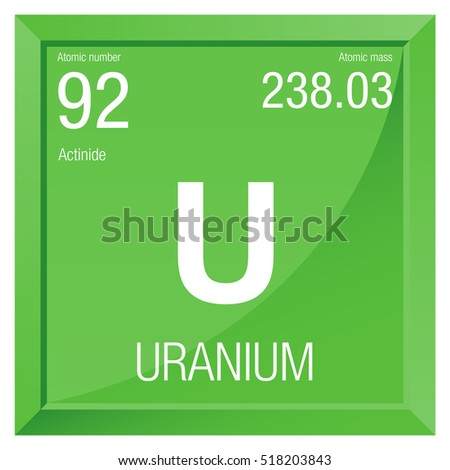 Uranium symbol element number 92 periodic stock vector 741877975 uranium symbol element number 92 of the periodic table of the elements chemistry urtaz