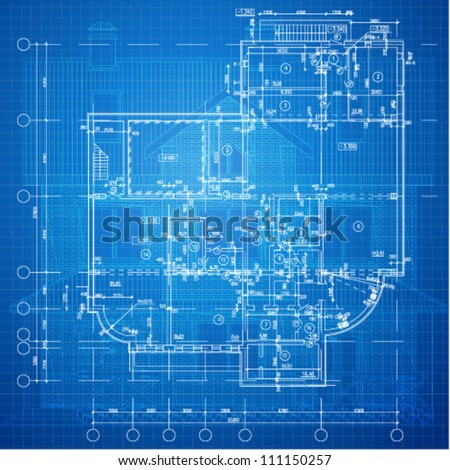 Urban blueprint vector architectural background part vectores en urban blueprint vector architectural background part of architectural project architectural plan malvernweather Image collections