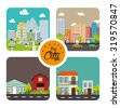 Urban city and real state design, vector illustration eps 10. - stock vector