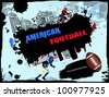 Urban grunge american football background, vector illustration - stock vector