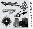Urban series: editable design elements (22) - stock photo