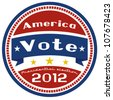 US presidential election 2012 badge - stock photo