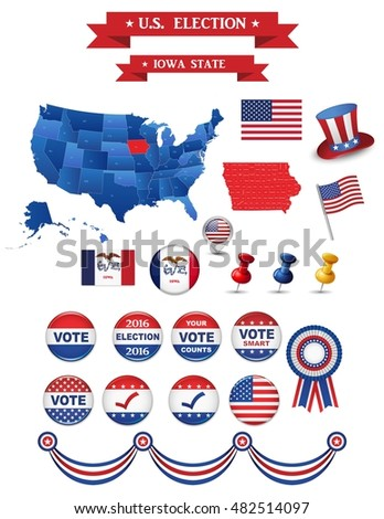 Us Presidential Election California State Including High - Detailed map of iowa