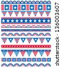 USA decorative borders, ornamental rules, dividers, vector - stock vector