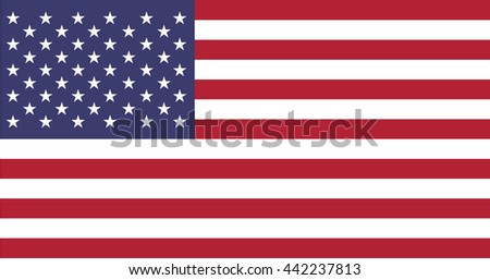 usa flag icon vector,united state flag The Stars and Stripes