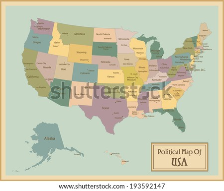 Us Map State Name Postal Abbreviation Stock Vector - Us map abbreviation