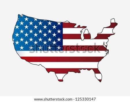 usa map isolated over kwhite background. vector illustration