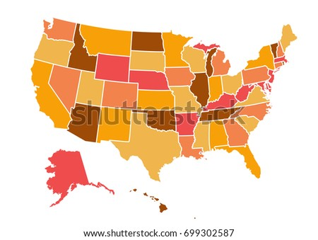 Usa Map Stock Vector Shutterstock - Usa map picture