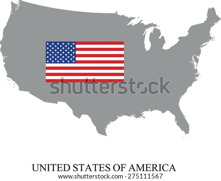 Drawing Map Flag Usa Stock Illustration Shutterstock - Us map with glag