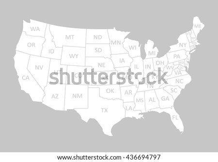 Usa Map With Name Of Countries United States Of America Map