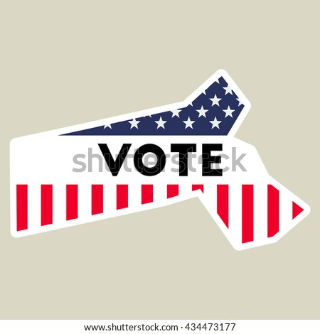 Usa Presidential Election 2016 Vote Sticker Massachusetts State Map Outline With Us Flag Vote