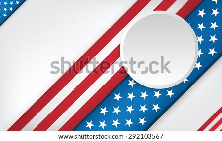 USA 4th of July background design with empty white space