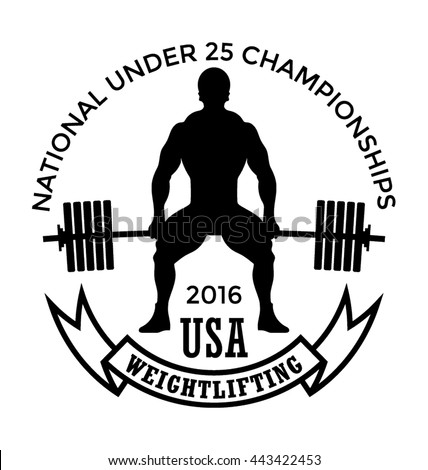 Usa Weightlifting Vector Icon