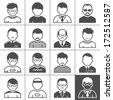 Users icons. Occupation and people. Vector illustration. Simplus series - stock photo