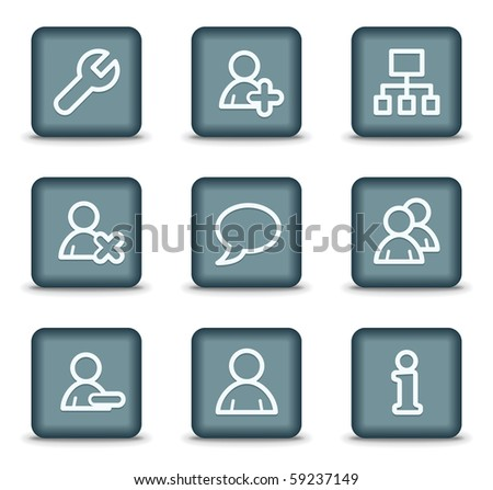 Users Web Icons White Glossy Circle 69470497