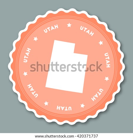 Vote Utah State Map Outline Patriotic Stock Vector - Us state sticker map