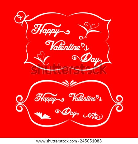 Valentine card design red color background. Vector illustration. Can use for greeting card of valentine's day