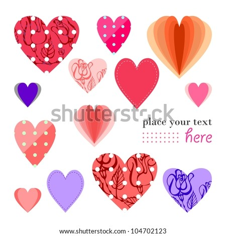 Valentine's day greeting card (vector version)