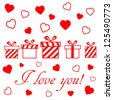 valentine's day vector card - stock vector