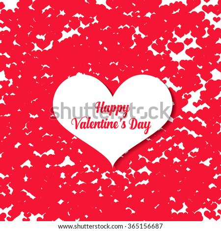 Creative Hearts Decorated Beautiful Greeting Card Vector – Happy Valentines Day Greeting Cards