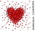 Valentines composition of the hearts. Vector illustration. - stock vector