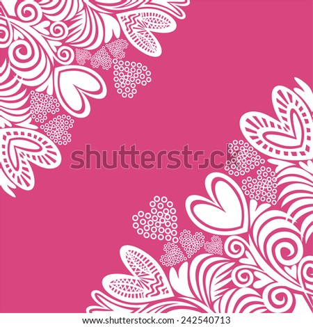 Valentines day card beautiful romantic pattern background vector illustration