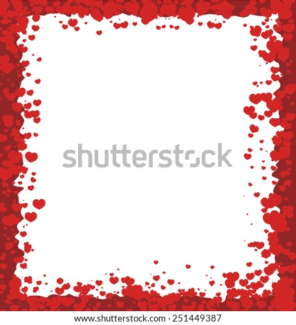 valentines day border hearts stock vector 245322523 - shutterstock, Ideas