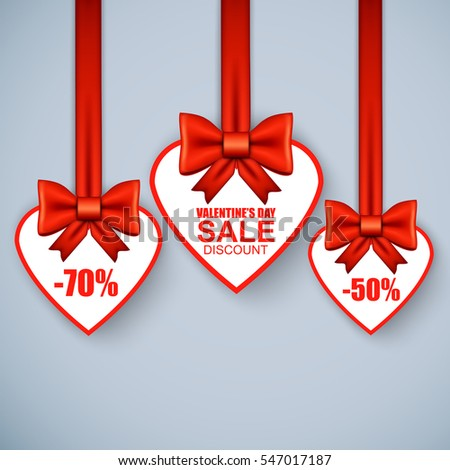 Valentines Day Heart Sale Tag Poster Vector 353962493 – Sale Tag Template