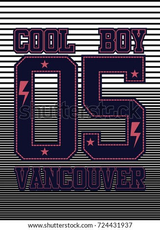 Cartoon illustration various neon light signage stock for Vancouver t shirt printing