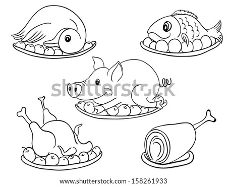 Stock images similar to id 43309699 a set of stylized for Black and white neat