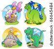 Various dinosaur images 2 - vector illustration. - stock photo