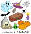 Various Halloween images 3 - vector illustration. - stock photo
