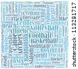 Various sport info-text graphics and arrangement vector - stock
