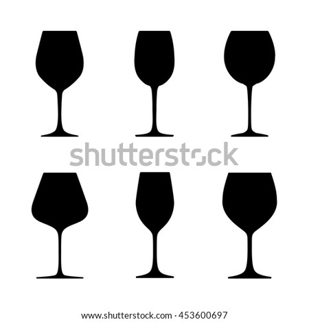 kitchenware different kinds wine glasses names stock vector