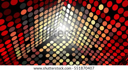 Vector Abstract Background Box Sides Made of Circles, Eps 10, Transparency Used