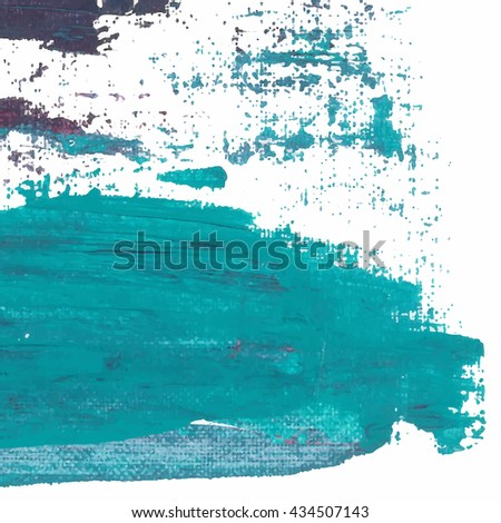 Vector abstract background brush stroke hand painted with paint sea green and violet