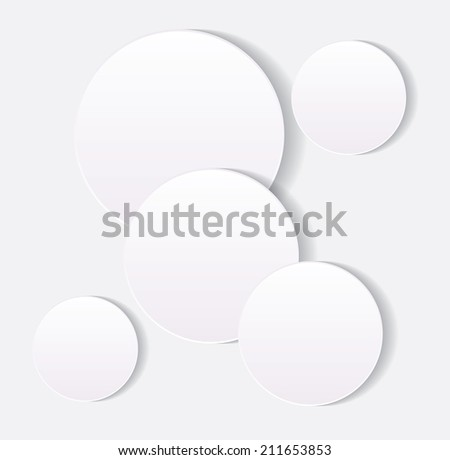 Vector abstract background composed of white paper round notes. Eps10.