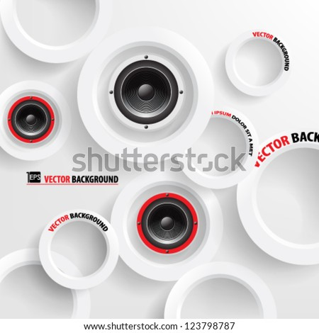 Vector Abstract background  Overlapping Circles Concept with speaker design