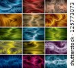 vector abstract background set (eps10, CMYK colors) - stock photo