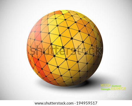 Vector abstract ball / sphere / of triangles