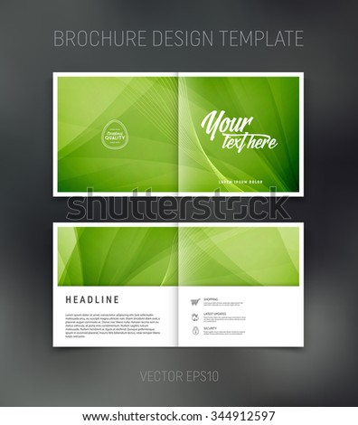 Vector set modern horizontal website banners stock vector for Two page brochure template