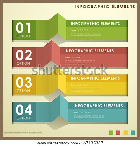 vector abstract flat design infographic elements